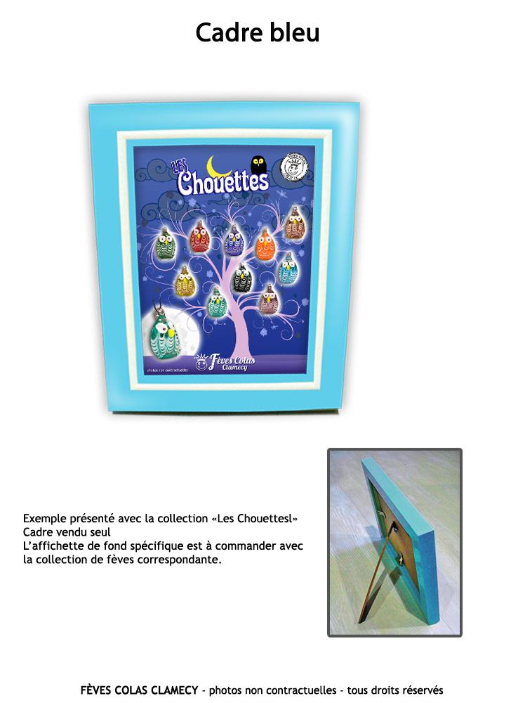 Cadre bleu + affichette collection