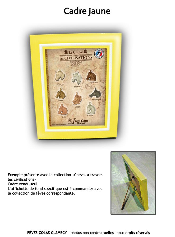 Cadre Jaune + affichette collection