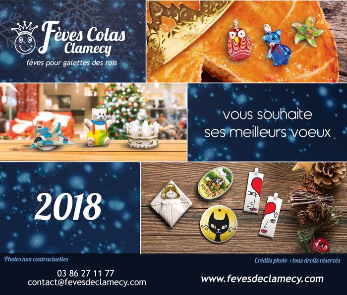 carte de voeux 2018 Fèves Colas Clamecy fabophiles