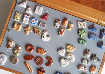 Présentation de la belle collection de fèves de Monique Joannès.